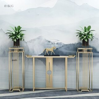 New Chinese style porch table, marble table, light luxury hotel, foreground table, simple porch table, corridor aisle case