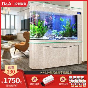 德国德克子弹头鱼缸水族箱客厅中大型玻璃底过滤免换水生态金鱼缸