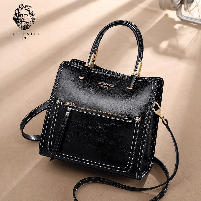Old head bag female bag new 2019 fashion Joker cross-body shoulder autumn and winter large capacity leather handbag female