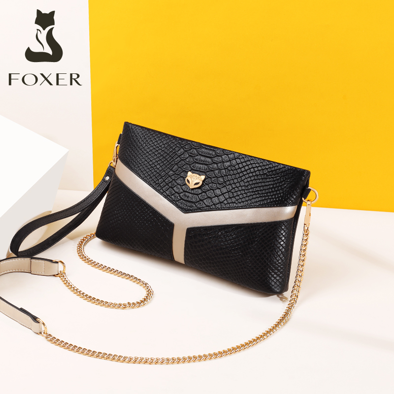 Golden Fox leather chain bag women's bag new 2019 fashion mom carrying bag single-shoulder lady stiletto small bag