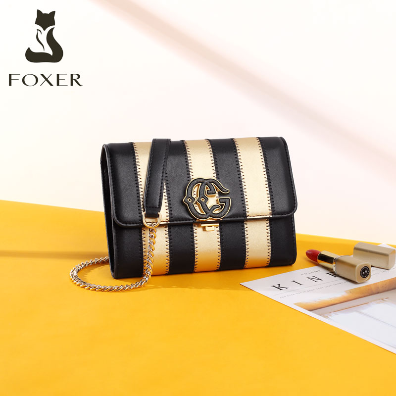 Golden Fox leather chain bag Women's bag new 2019 fashion popular shoulder autumn and winter ladies cross-body bag Women
