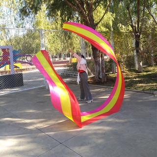 Гимнастика протяжение лента цвета ленты танец движение лента фитнес ленты палка пакет длина стержня шелк кадриль для взрослых, цена 1155 руб