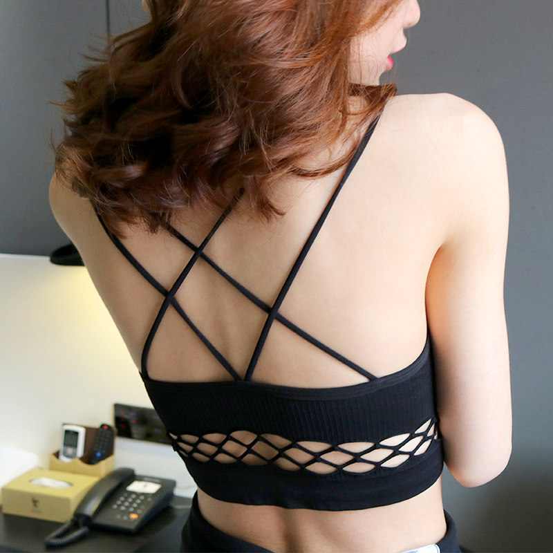 裹胸上衣女夏外穿抹胸式吊带背心内衣防走光聚拢美背款文胸内衣