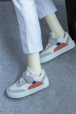 taobao agent 【Kaka Planet】bjd men's shoes red and blue stitching street sneakers low-top sneakers 3 points 4 points uncle shoes