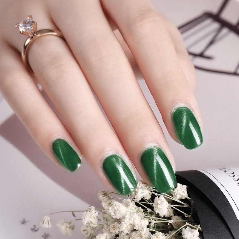 KaSi Phototherapy Cat Eye Nail Polish Manicure Gradient Jade Gel Magnet Waterproof Unpeelable Tear