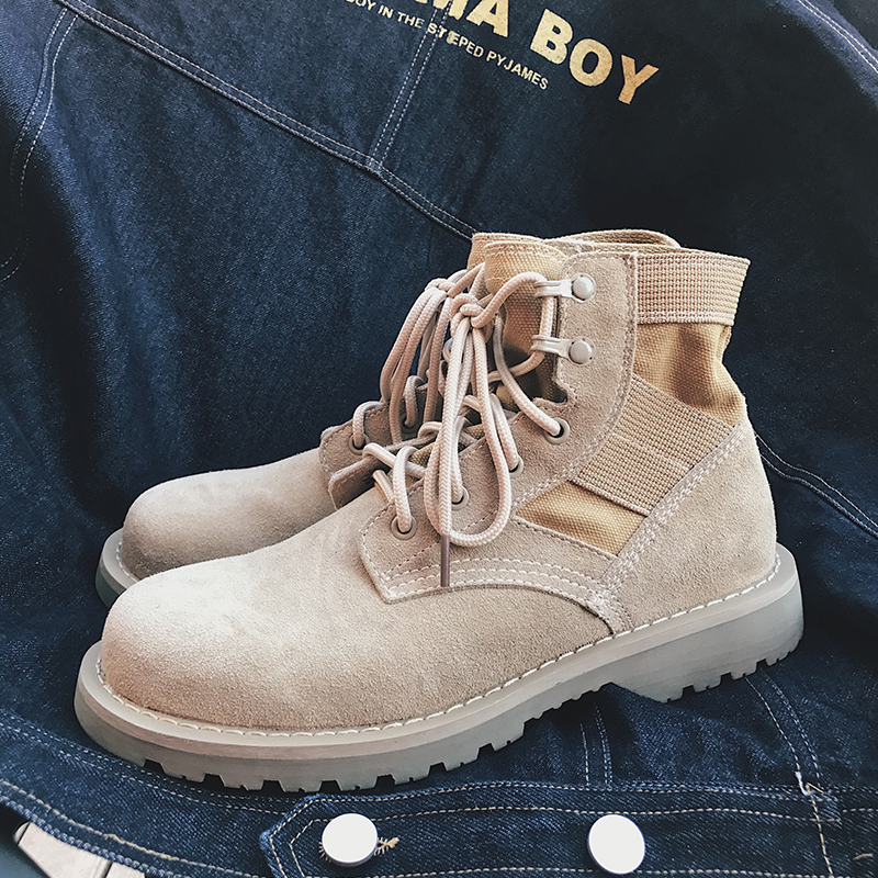 Корейский любителей простой механическая обработка обувной высокий мужской весна дикий пустыня мартин сапоги матовая кожа армия ботинок тенденция