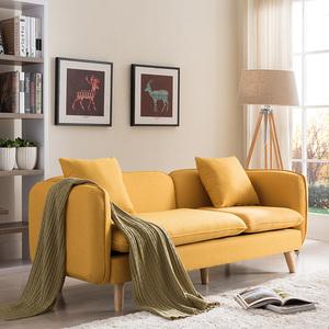 Bắc Âu căn hộ nhỏ phòng khách kết hợp sofa đơn đôi ba vải sofa nhỏ đơn giản nội thất hiện đại - Ghế sô pha