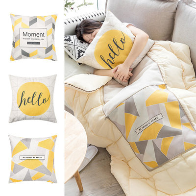 Nordic Pillows Throw Pillow Quilt Dual-use Office Car Foldable Multifunctional Pillow Air Conditioner Quilt