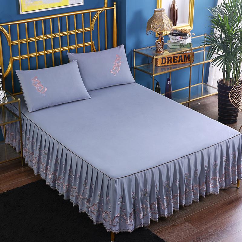 . Phiên bản Hàn Quốc của công chúa trải giường ngủ loại váy đơn mảnh ren giường trải giường bảo vệ 1.8x2.0x2.2m trải giường mùa hè - Váy Petti