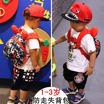 1-2-3 year old baby anti-lost bag boy anti-lost kindergarten bag girls backpack children bags