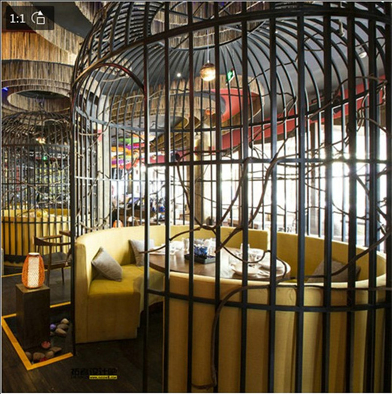 Wrought Iron Bird Cage Hotel Restaurant Wedding Bird Cage Cafe Tea