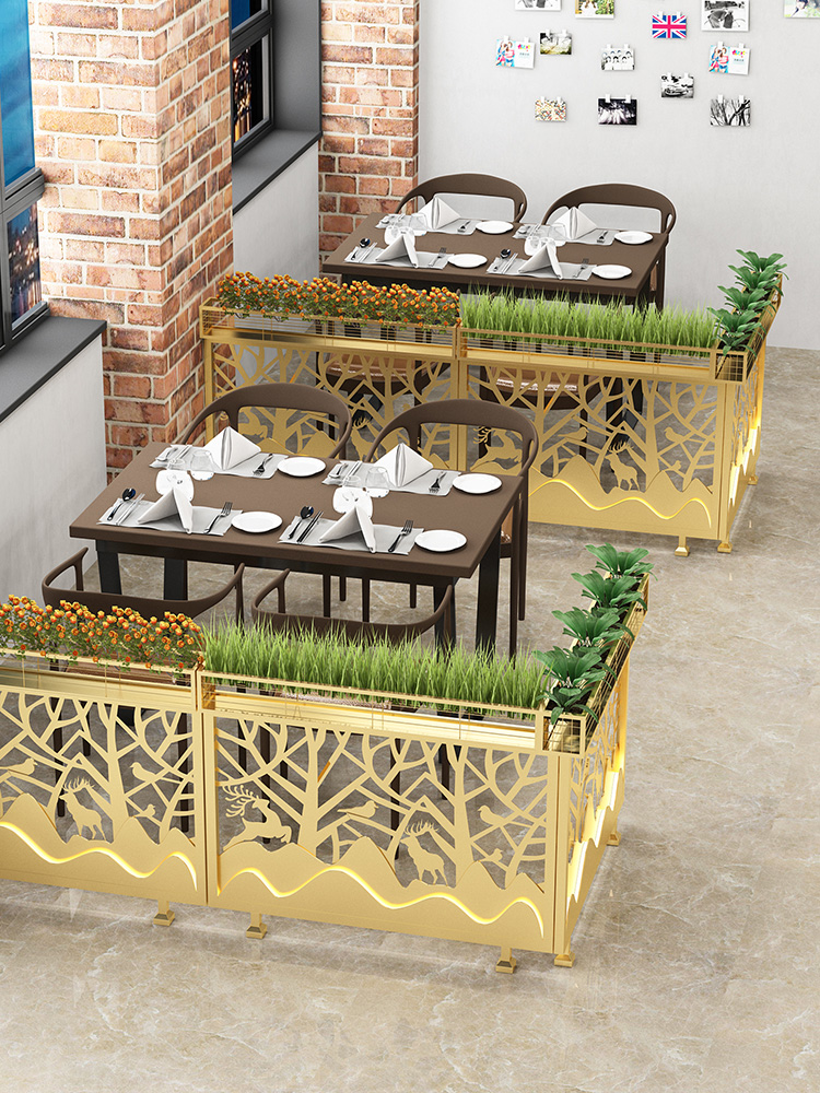 Dining room fence hollow hot pot shop low partition Nordic hotel wall half workshop aisle Flower rack Industrial style decoration