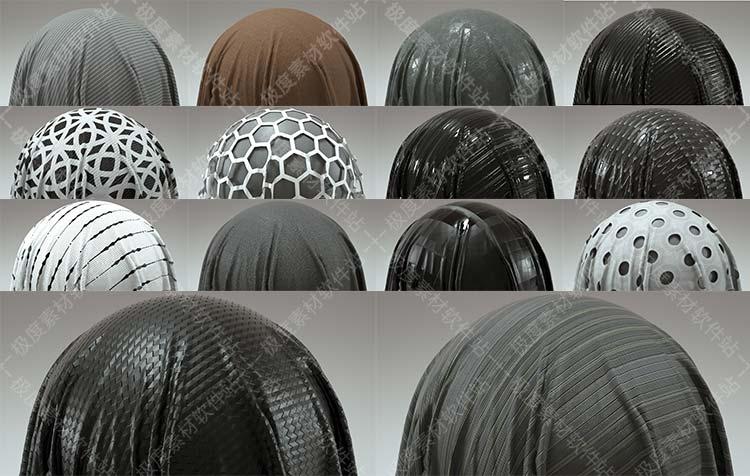 C4D KeyShot 3dmax SU织物布料丝网窗帘蕾丝4K高清3D贴图材质素材