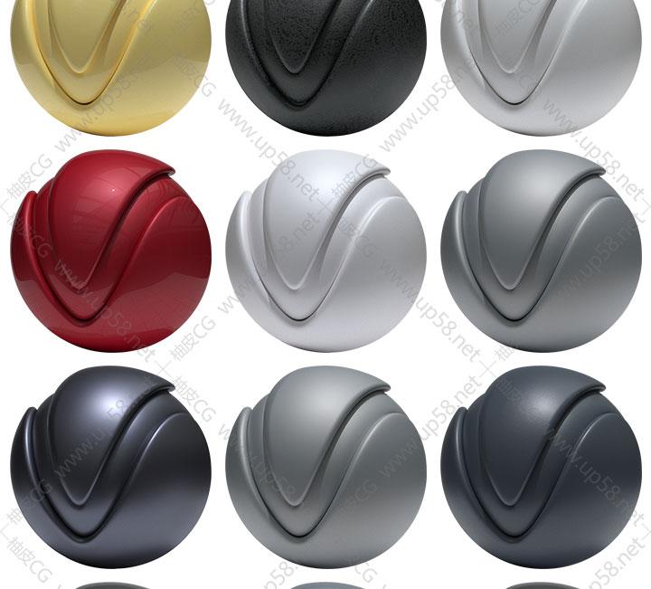 3dmax MAYA VRay产品设计咬花蚀纹皮纹花纹塑胶材质球素材库