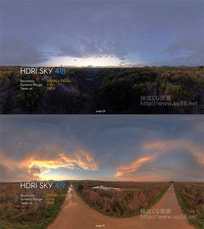 360度全景VRay keyshot 3dmax C4D 天球环境照明HDR高动态贴图素材库