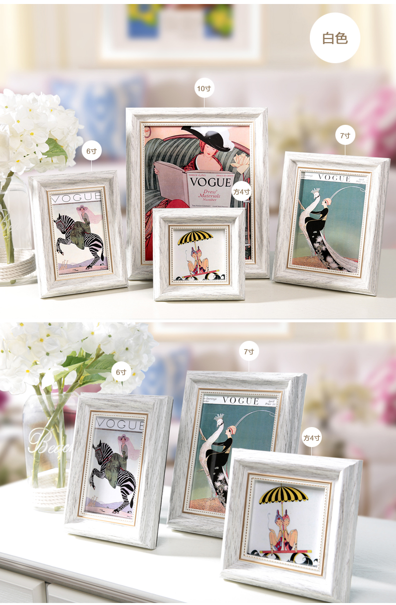 4/6/7/10inch Romantic Wedding Gift Plastic Picture Frames, Vintage ...