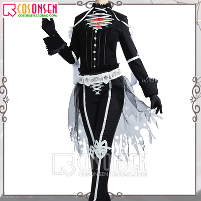 taobao agent cosonsen twisted wonderland cosplay costume Halloween Red Hearts Riddle Deuce Rosehearts