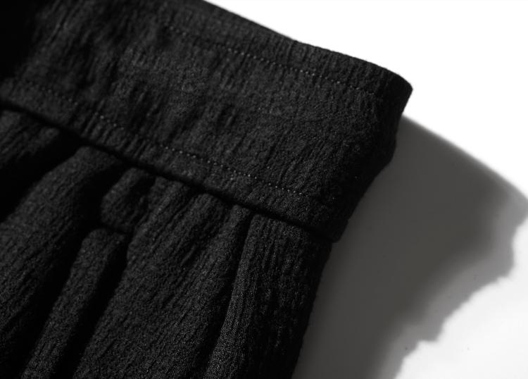 夏季做皱弹力运动裤男宽鬆鬆紧腰休閒裤卫裤中年男裤裤子直筒长裤详细照片