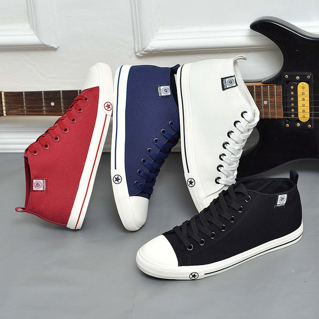 Global high-top canvas shoes boy 12