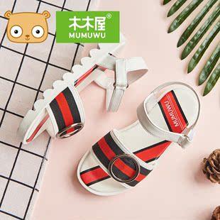 【木木屋】夏季休闲露趾公主凉鞋