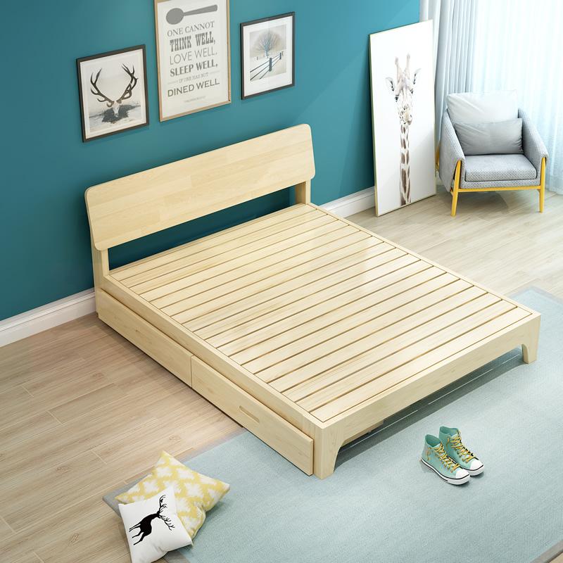 艾菲娅北欧实木床单人床双人床