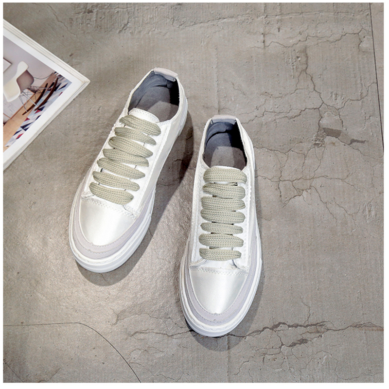 XWWDVV Spain niche shoes casual versatile canvas shoes new thick bottom flat white shoes women 58