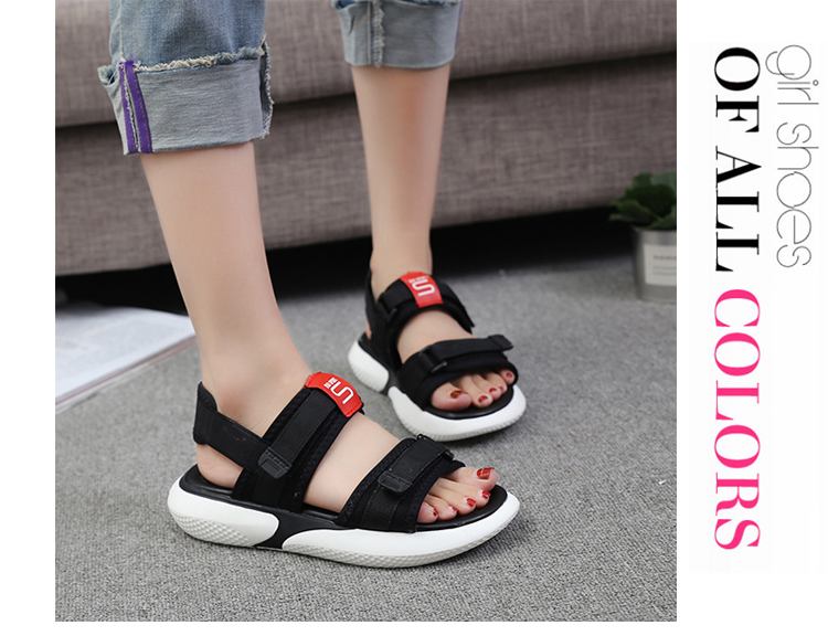 Summer 2018 new flat sandals female students wild magic stickers casual shoes. 69