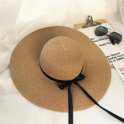 C стиль - со шнурками Соломенная шляпа( светло кофе)