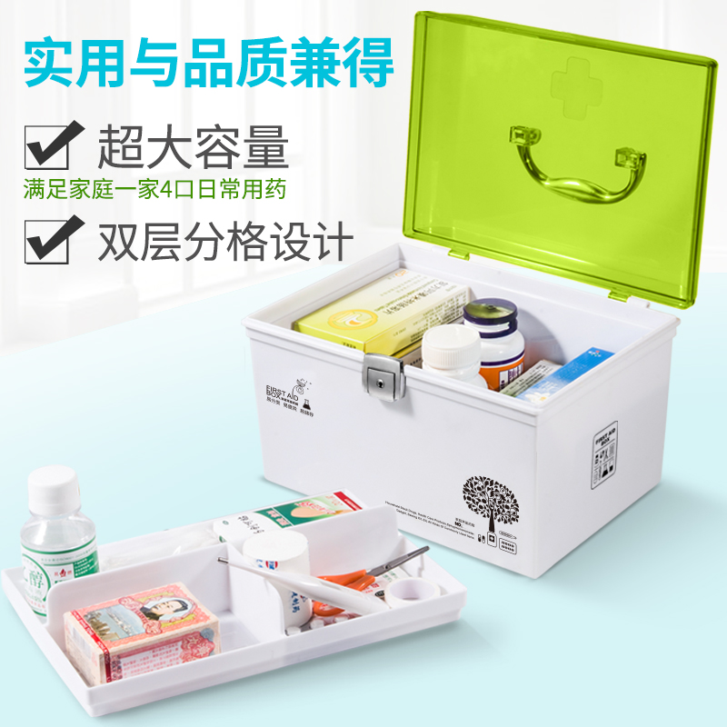 Medicine Box Household Multi Layer Size First Aid Kit Medical Drug Storage  Box Dormitory Family Portable ...