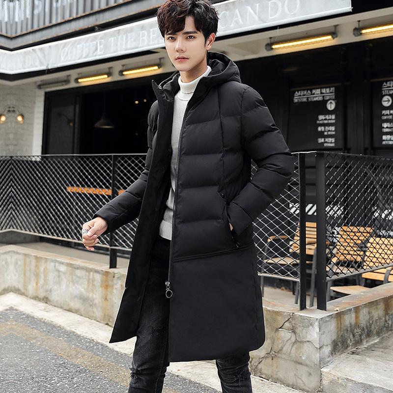 中長款棉衣男士加厚外套2019新款冬季棉襖潮流上衣服韓版保暖棉服