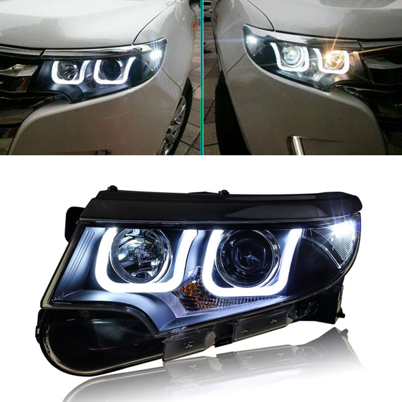 For Ford Edge   Headlights Bi Xenon Projector Lens Headlight Assembly