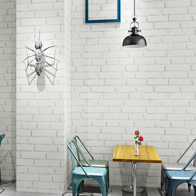 3d three-dimensional white brick brick wallpaper bedroom living room hair  salon barber clothing store brick background wall paper
