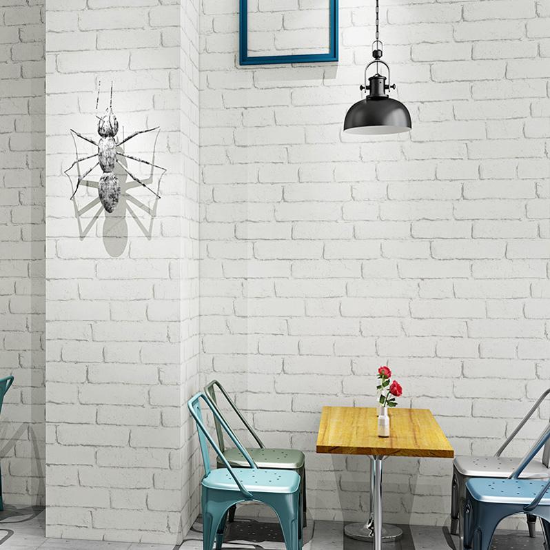 3d three-dimensional white brick brick wallpaper bedroom ...