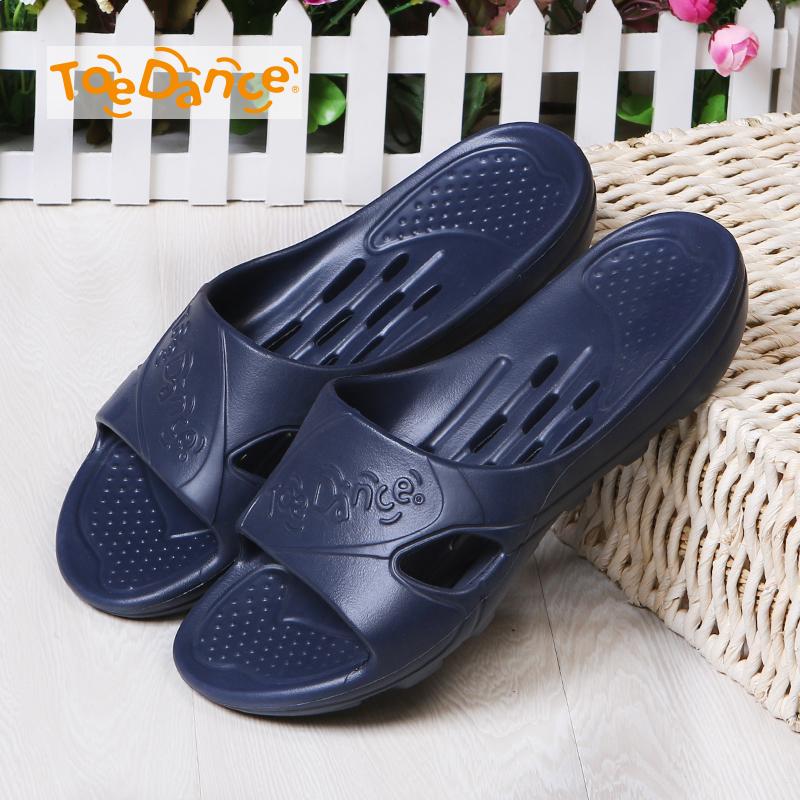 足间舞洗澡拖鞋拖鞋夏季室内家居男士漏水厚底防滑凉浴室家用v拖鞋