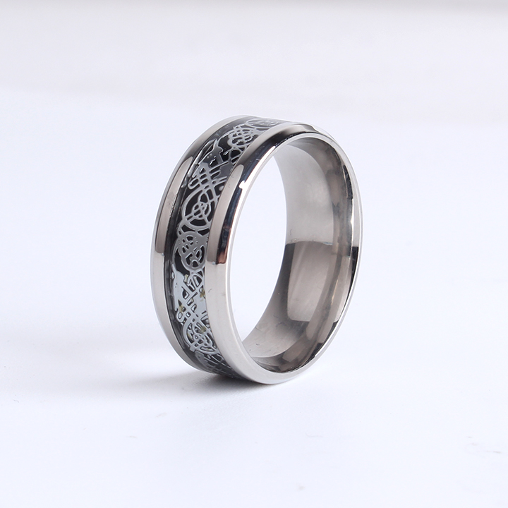 Fine Jewelry Dragon Design Stainless Steel Ring High Quality Men ...