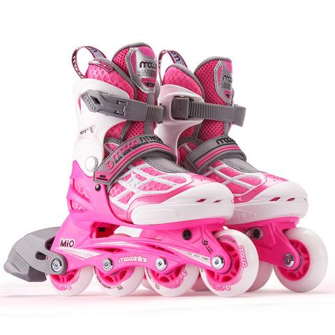 米高溜冰鞋儿童轮滑鞋滑冰鞋旱冰鞋滑轮鞋初学者女男童专业全套装