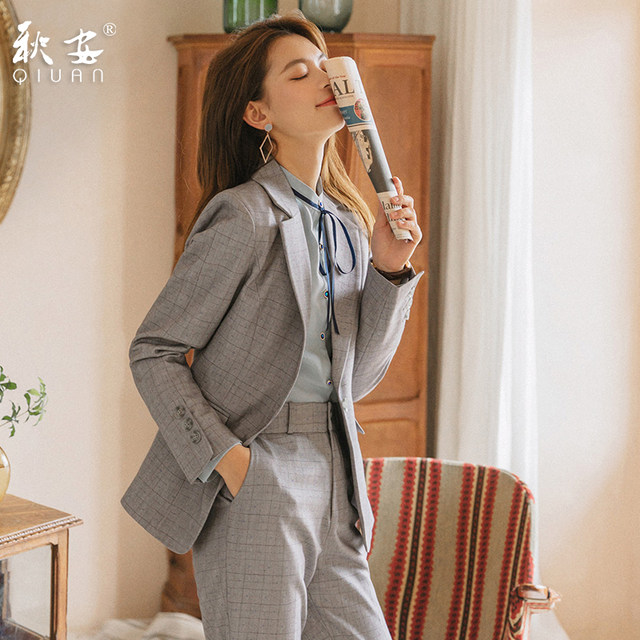 Formal Women S Suits Suits 2021 Spring And Summer Korean Fashion Work Clothes Suits Interviews Professional Tooling