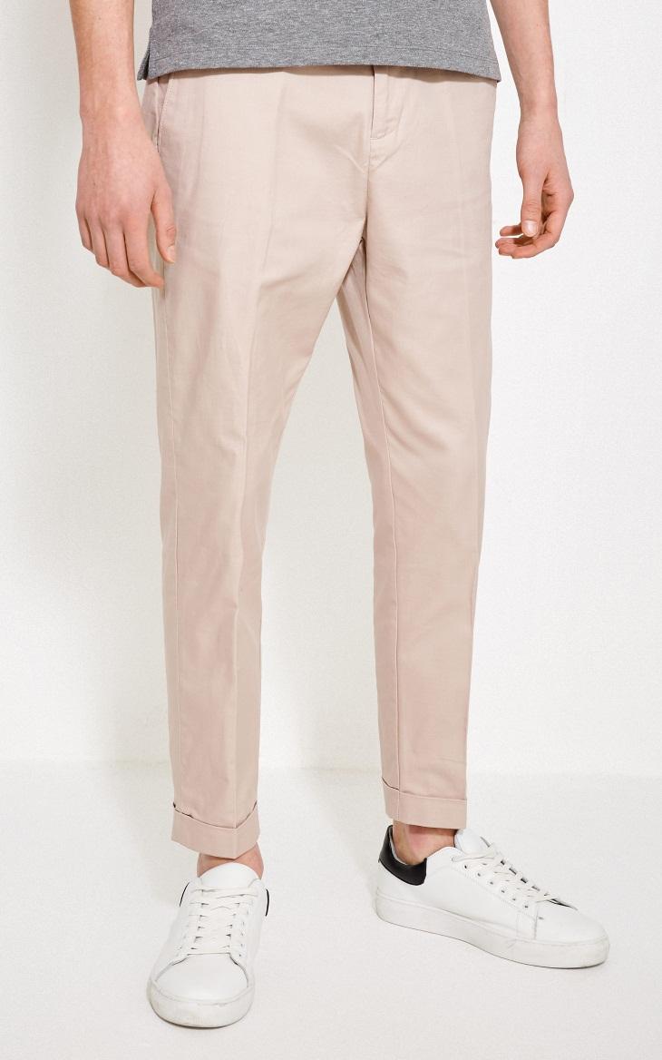 JackJones Jack Jones nam mùa hè mới bông kinh doanh bình thường quần màu chín quần 218214520