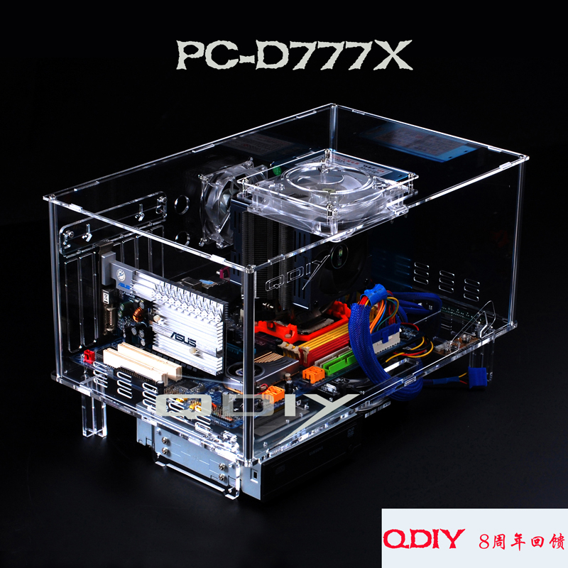Qdiy D777x Diy Modified Acrylic Transparent Chassis Atx Matx