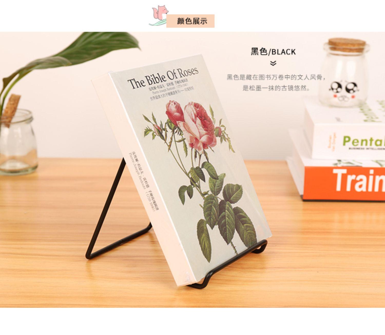 单元格桌面简易书架桌上学生铁艺造型北欧杂誌小型图书馆置物架详细照片