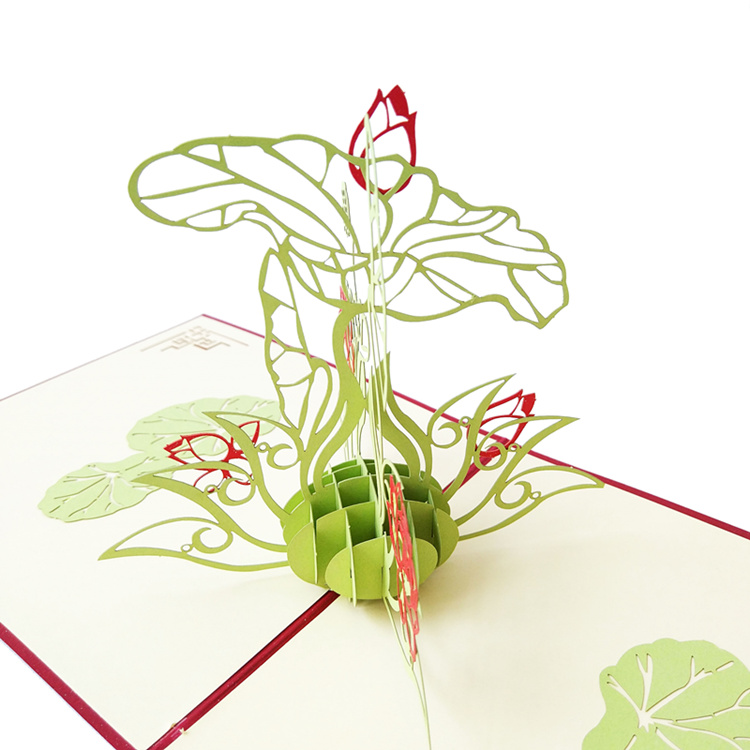 usd 8 02 3d lotus three dimensional greeting card mother s day