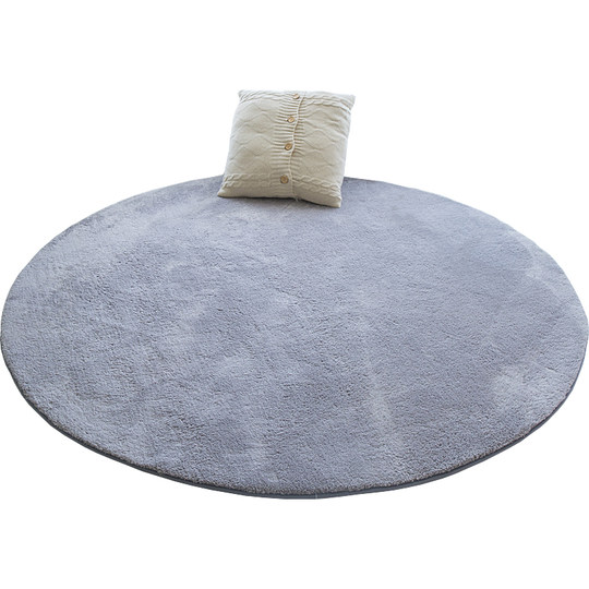 Round bedside carpet home modern minimalist Nordic bedroom living room coffee table mat room computer chair solid color blanket