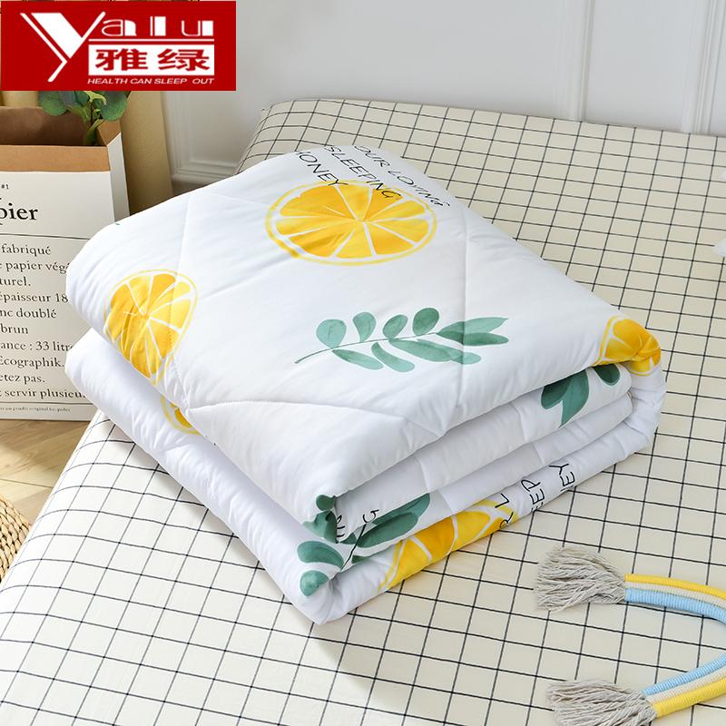 雅绿夏天空调被可机洗单人薄被子水洗棉