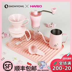 HARIO Japan cold extraction pot hanging ear ice drip pot drip hand coffee pot set appliance combination V60 filter cup