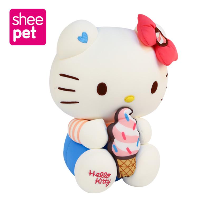 Sheepet舒宠女生HelloKitty抱枕女孩凯蒂猫玩具公仔雪糕睡觉礼物