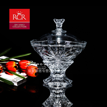 Италии RCR кристалл стекло сахар бак творческий сахар цилиндр кофе конфеты бак крышка конфеты чашка сухой фрукты коробка, цена 3088 руб