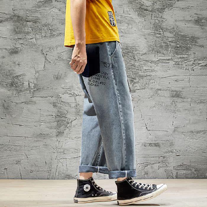 2020小脚春夏季ins潮牌学生裤牛仔裤男宽松潮流韩版男士裤
