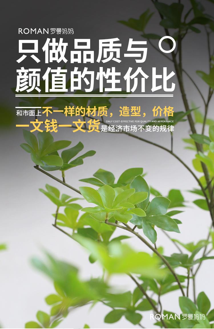 北欧风仿真绿色植物摆件日本吊钟植物装饰假树马醉木室内客厅落地盆栽详细照片