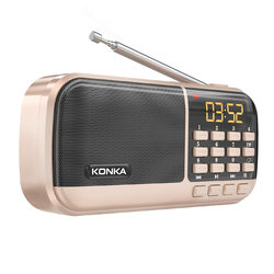 Konka Radio Elderly new portable player can be plugged into u disk semiconductor elderly storytelling machine multi-function small plug-in card rechargeable opera and opera song listening book player Walkman