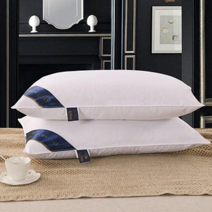 【分美家纺旗舰店】第二件0元 希尔顿酒店全棉羽丝绒枕2个